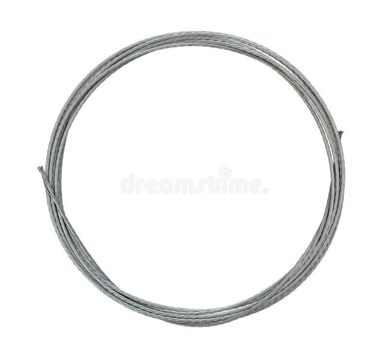 Cercle de bride de câble métallique photo libre de droits