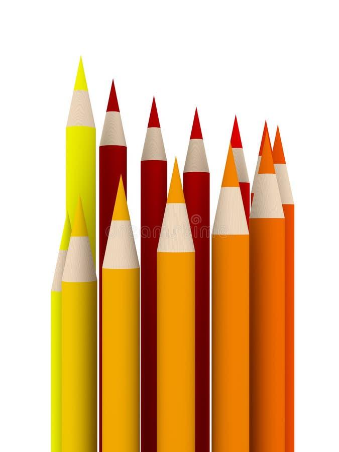 Cercle de crayon - plan rapproché illustration libre de droits