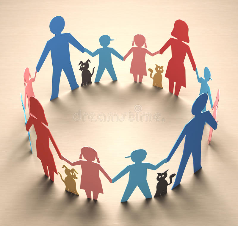 Cercle de famille illustration de vecteur