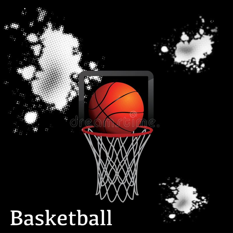 Cercle de filet de boule de basket-ball photos stock