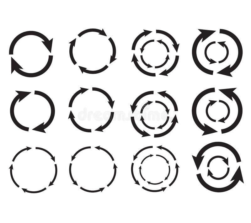 Cercle de flèche photos stock