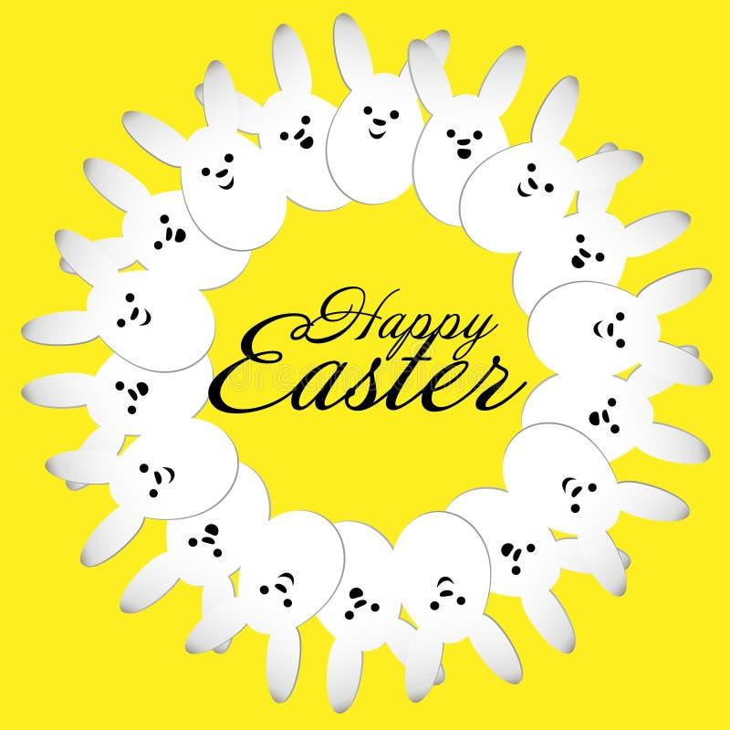 Cercle de lapin heureux de Pâques illustration de vecteur