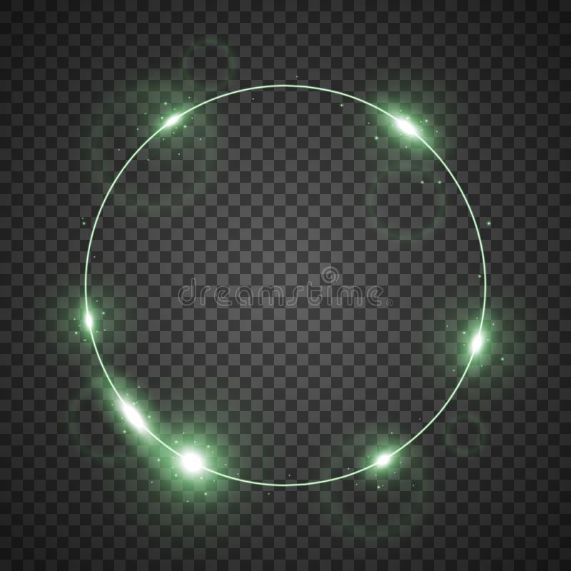 Cercle de lumière, couleur verte illustration libre de droits