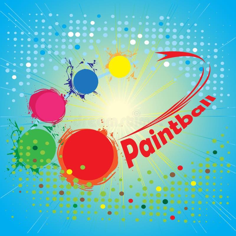Cercle de Paintball Drapeau carré abstrait illustration de vecteur