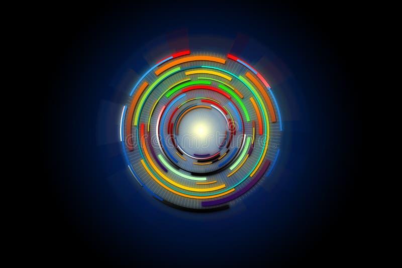 Cercle de pointe de conception de fond de technologie illustration libre de droits