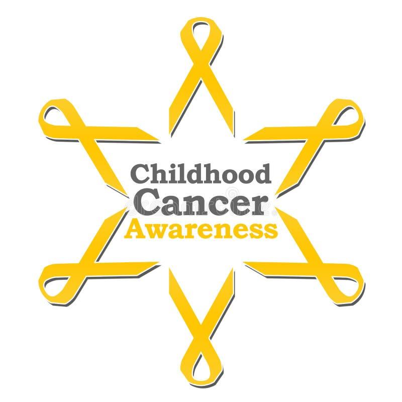 Cercle de ruban de conscience de Cancer d'enfance illustration stock