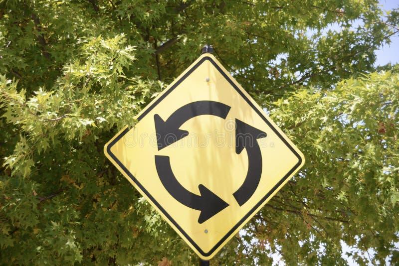 Cercle de trafic de rond point images stock