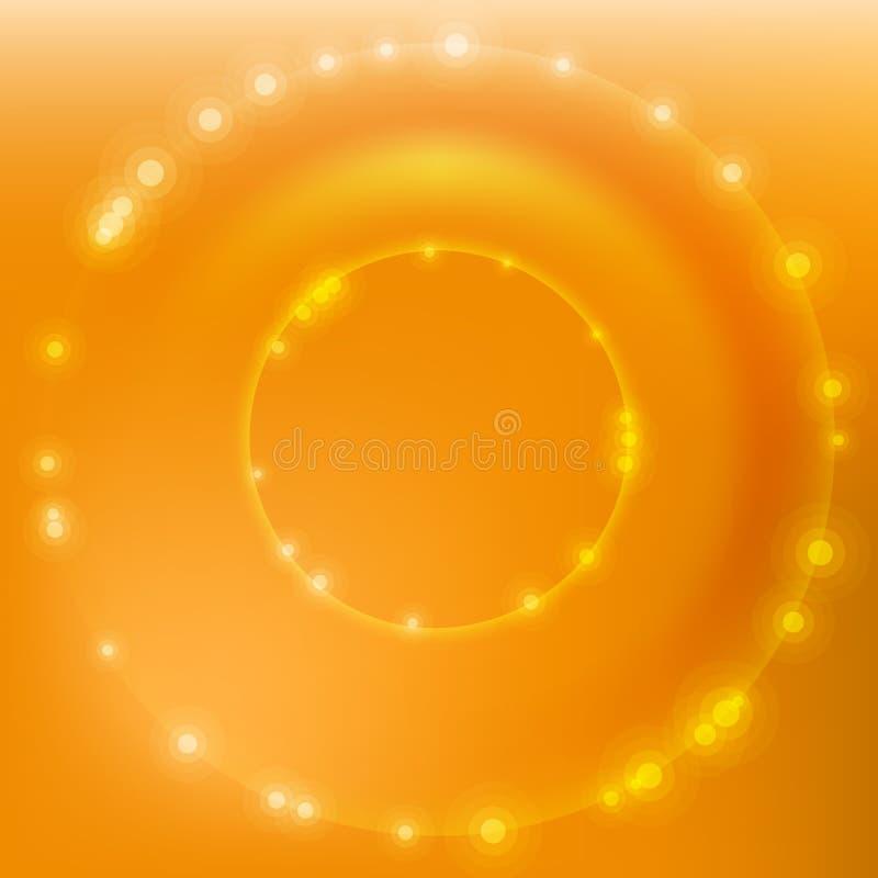Cercle de vecteur d'or illustration stock