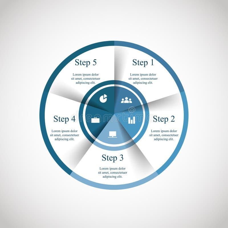 Cercle de vecteur infographic illustration stock