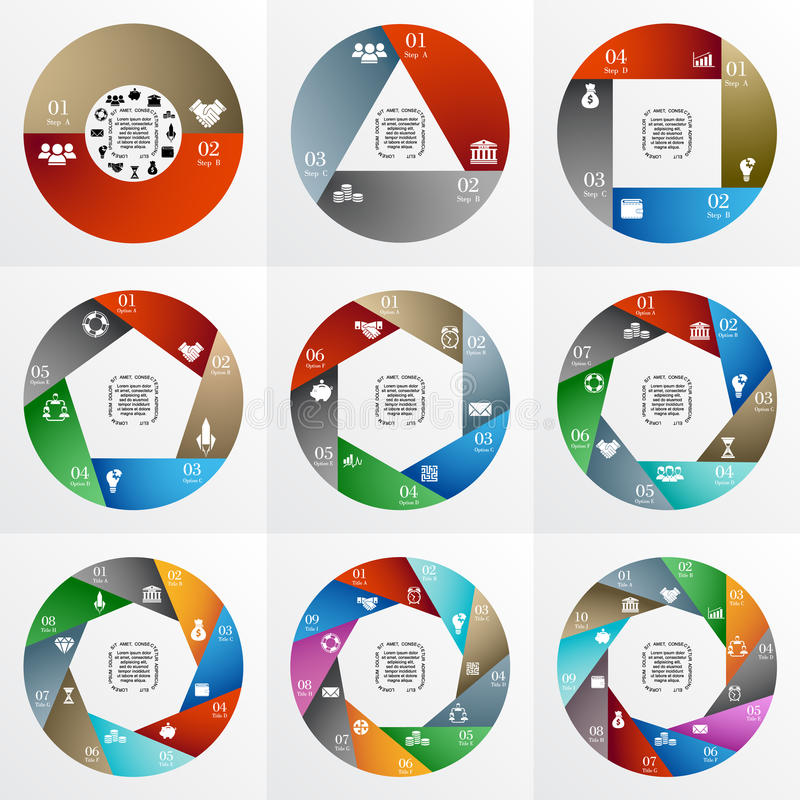 Cercle de vecteur infographic photographie stock