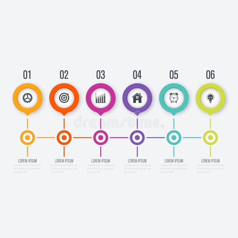Cercle de vecteur infographic avec 5 options illustration stock