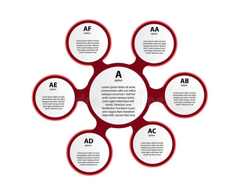 Cercle de vecteur infographic Calibre pour le diagramme, le graphique, la présentation et le diagramme illustration stock