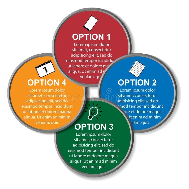 Cercle de vecteur infographic Calibre pour le diagramme, le graphique, la présentation et le diagramme WI de concept d'affaires illustration de vecteur