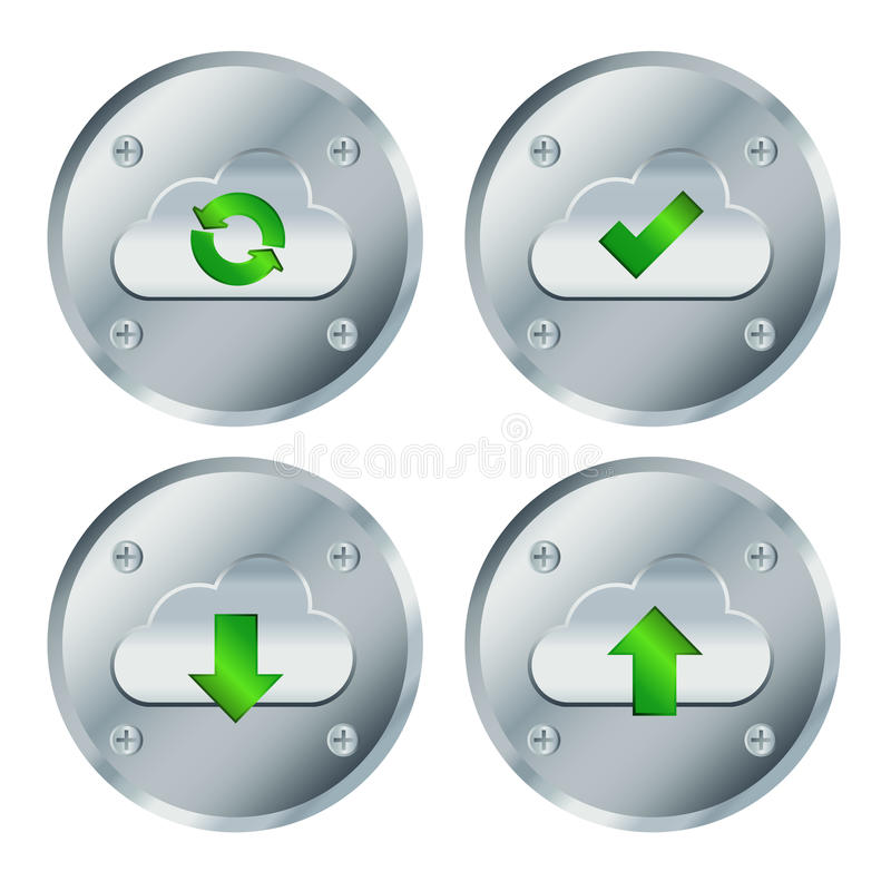 Cercle de vis de bouton de nuage illustration de vecteur