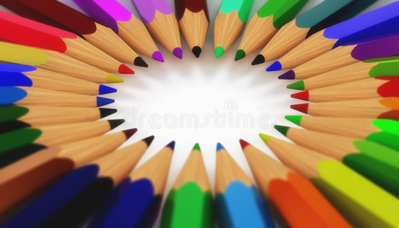 Cercle des crayons illustration libre de droits