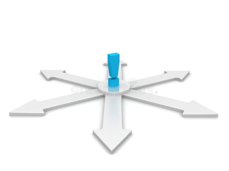 Cercle des flèches dans 3D illustration stock