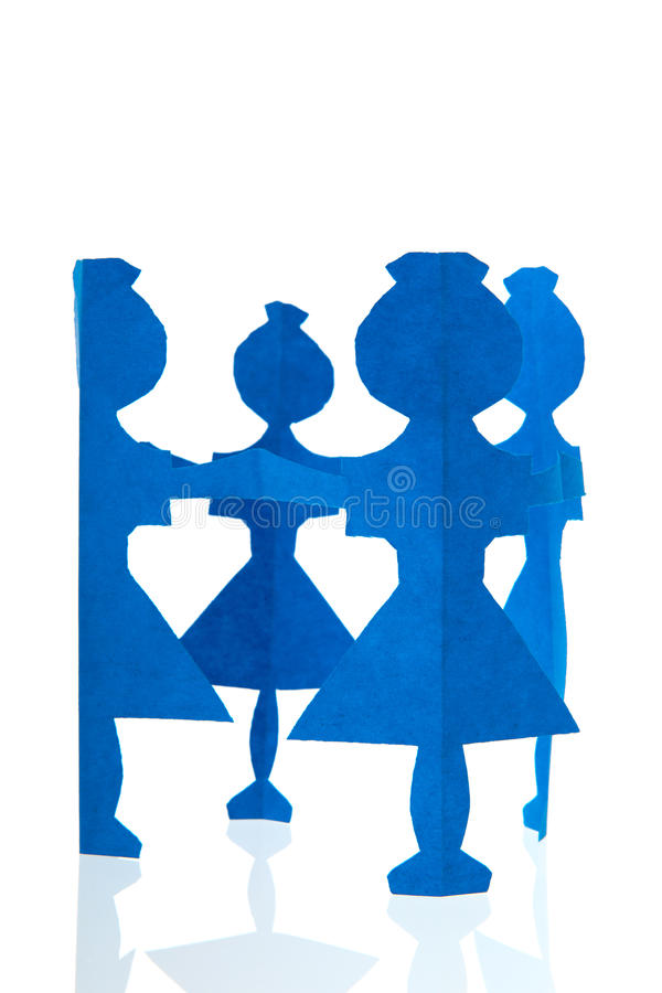 Cercle des poupées de papier images stock