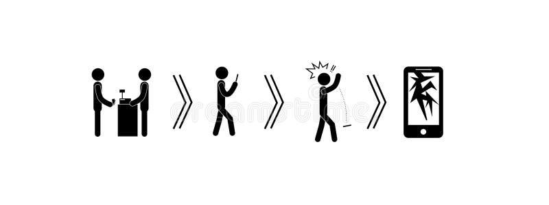 Cercle du consommateur des téléphones illustration de vecteur