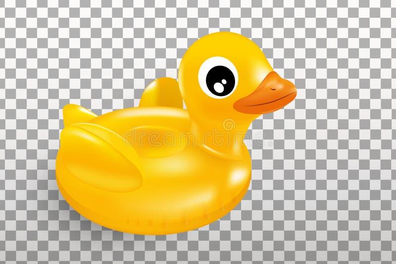 Cercle en caoutchouc jaune de natation de canard illustration libre de droits
