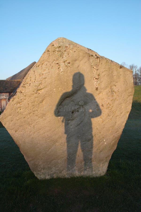 Cercle en pierre d'Avebury image libre de droits