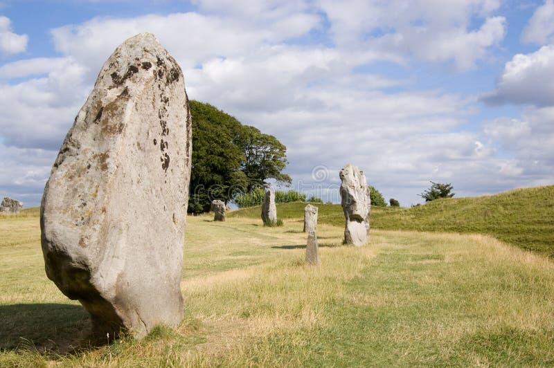 Cercle en pierre d'Avebury, WILTSHIRE images libres de droits