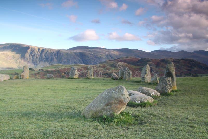 Cercle en pierre de Castlerigg image stock