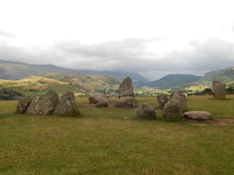 Cercle en pierre de Castlerigg photographie stock