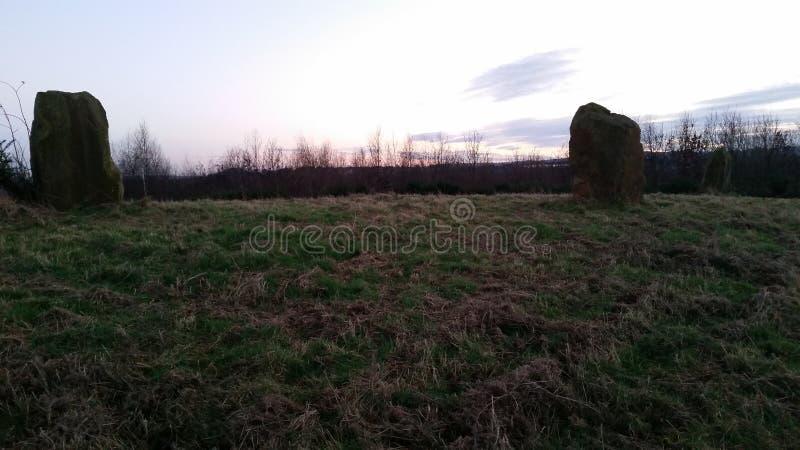 Cercle en pierre néolithique photo stock