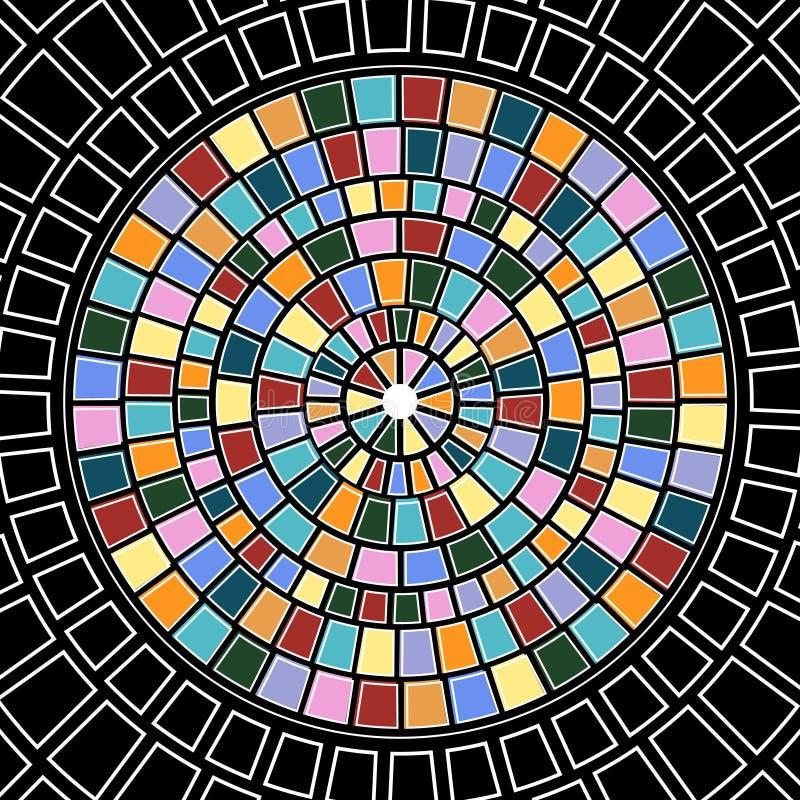 Cercle en verre souillé illustration de vecteur