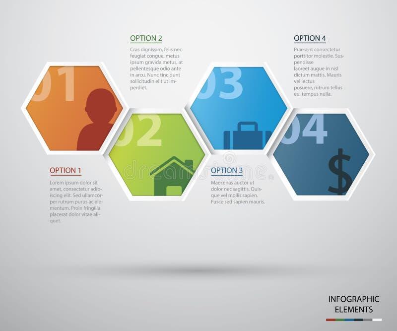 Cercle infographic illustration libre de droits