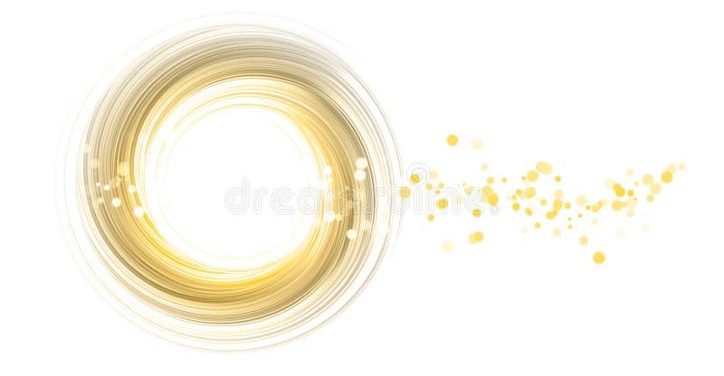 Cercle jaune illustration stock