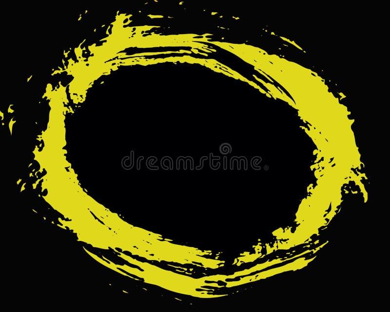 Cercle jaune images stock