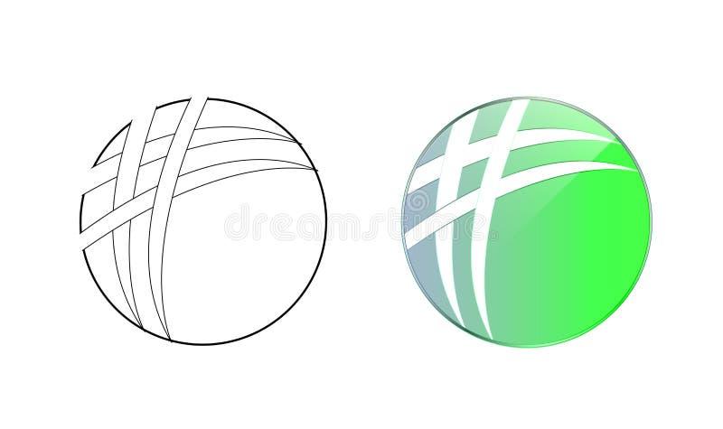 Cercle Logo Icon Graphic Design illustration libre de droits