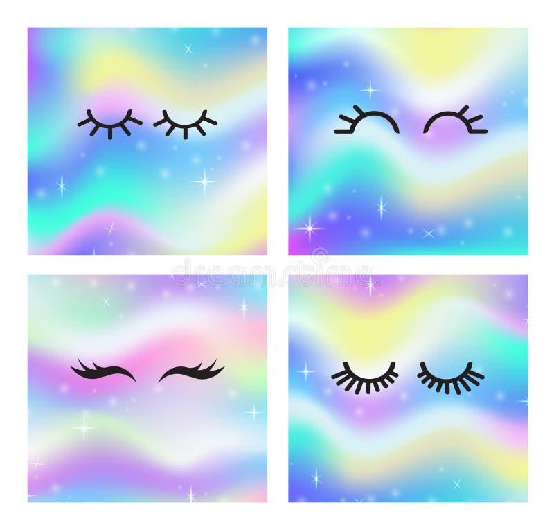 Cercle magique de fond de lueur de l'espace féerique avec la maille d'arc-en-ciel Bannière multicolore d'univers dans la couleur  illustration de vecteur