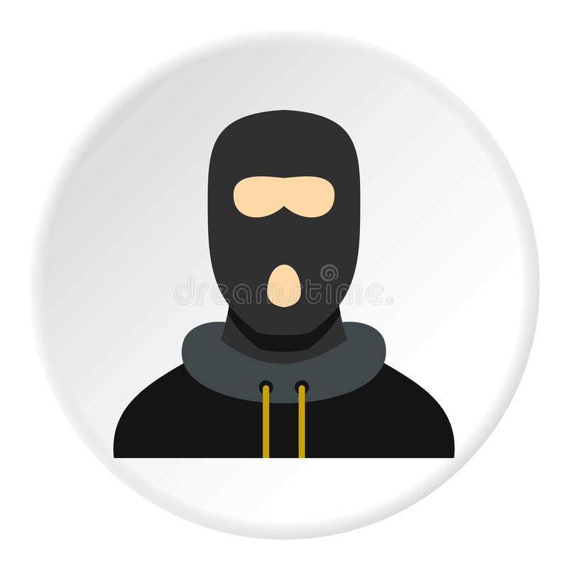 Cercle masqué d'icône de voleur illustration stock