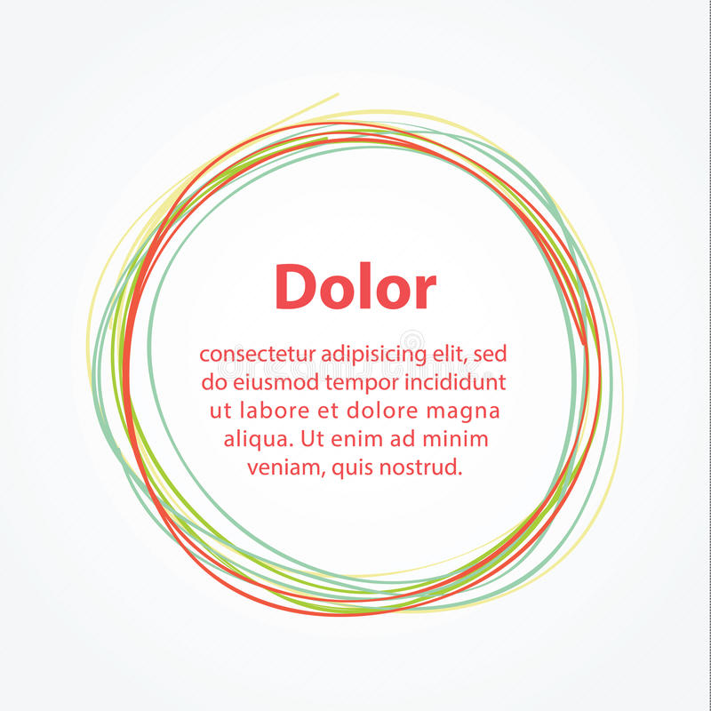 Cercle minimalistic de main-aspiration de vecteur. Calibre abstrait illustration stock