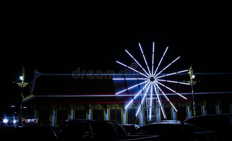 Cercle multicolore de lumières photos stock