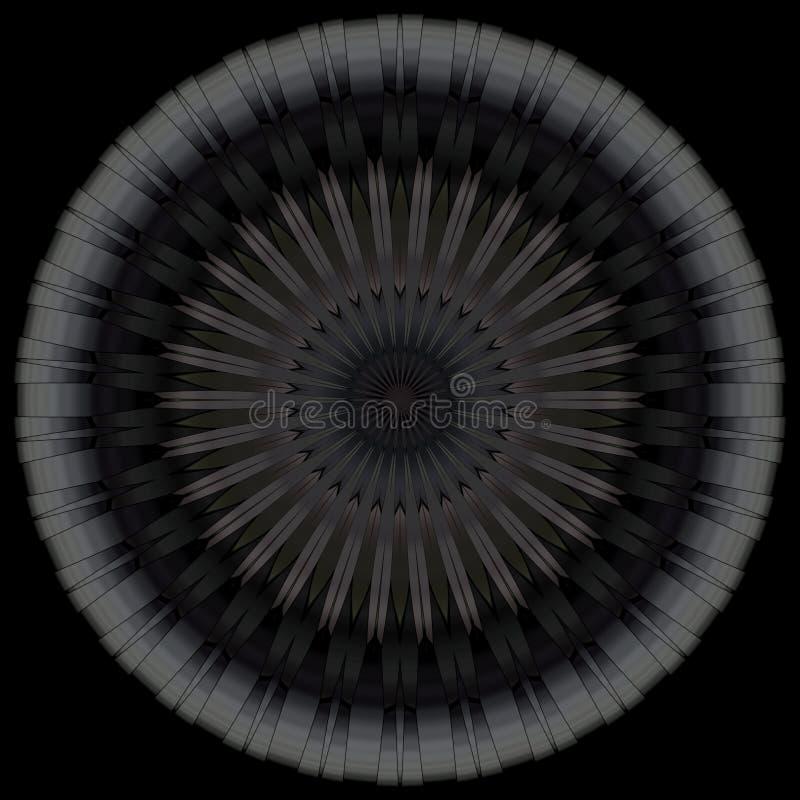 Cercle noir de mandala photographie stock libre de droits