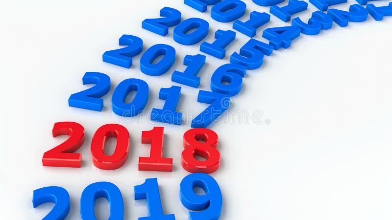 2018 cercle passé 2 illustration stock