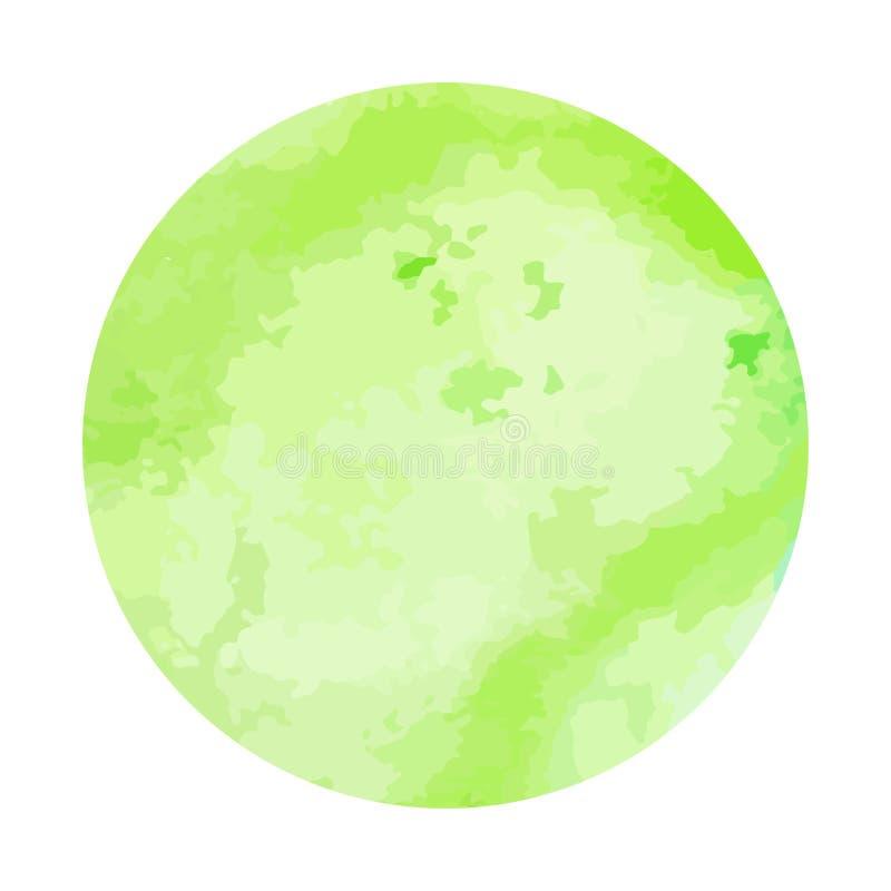 Cercle peint à la main d'aquarelle abstraite Beaux éléments de conception de cercle d'aquarelle Fond d'aquarelle illustration libre de droits