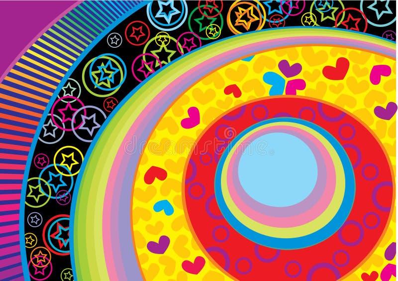cercle rétro images stock