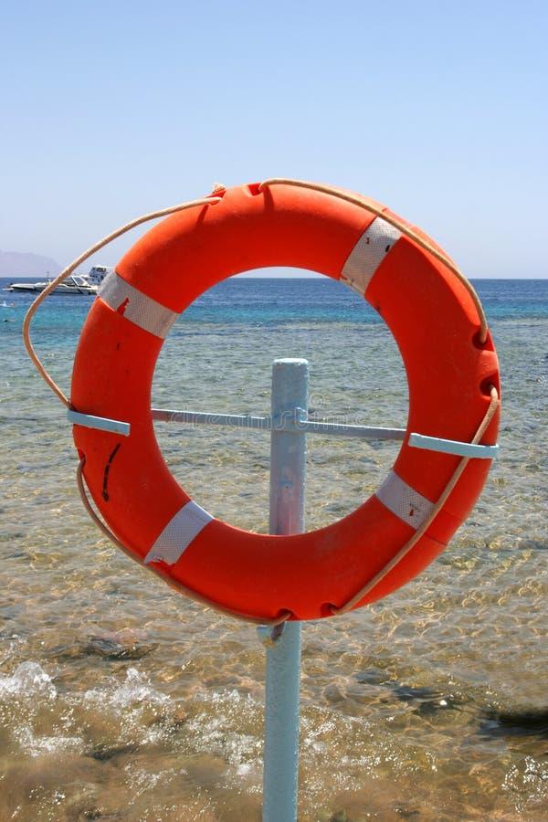Cercle rouge de sauvetage image libre de droits