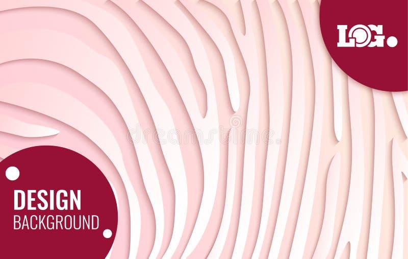 Cercle rouge sur des lignes de livre blanc - texture abstraite fond simple pour la conception de couverture, affiche, insecte illustration libre de droits