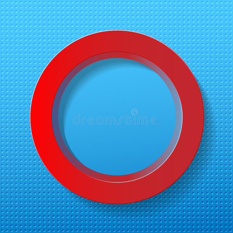 Cercle rouge sur le fond bleu illustration libre de droits