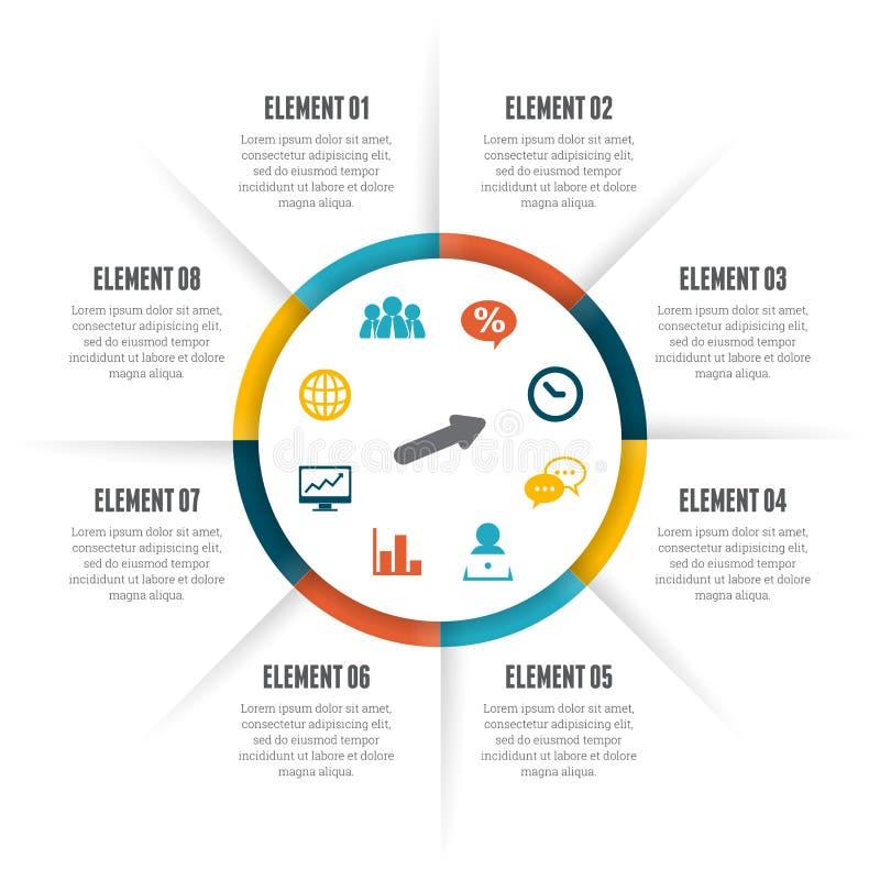 Cercle tournant Infographic illustration de vecteur