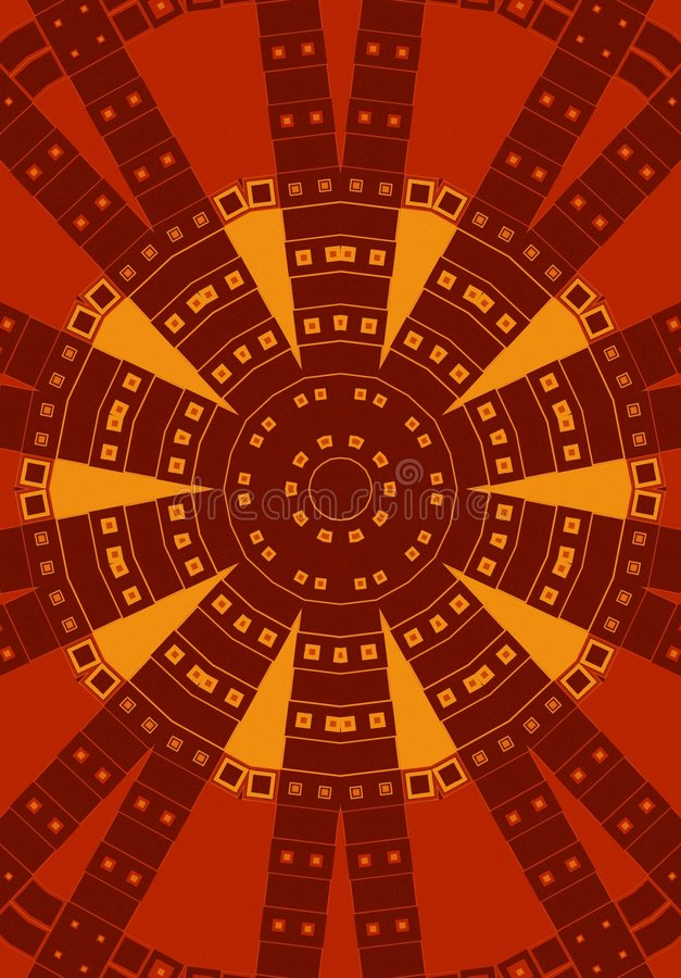 Cercle tribal de configuration en rouge illustration libre de droits