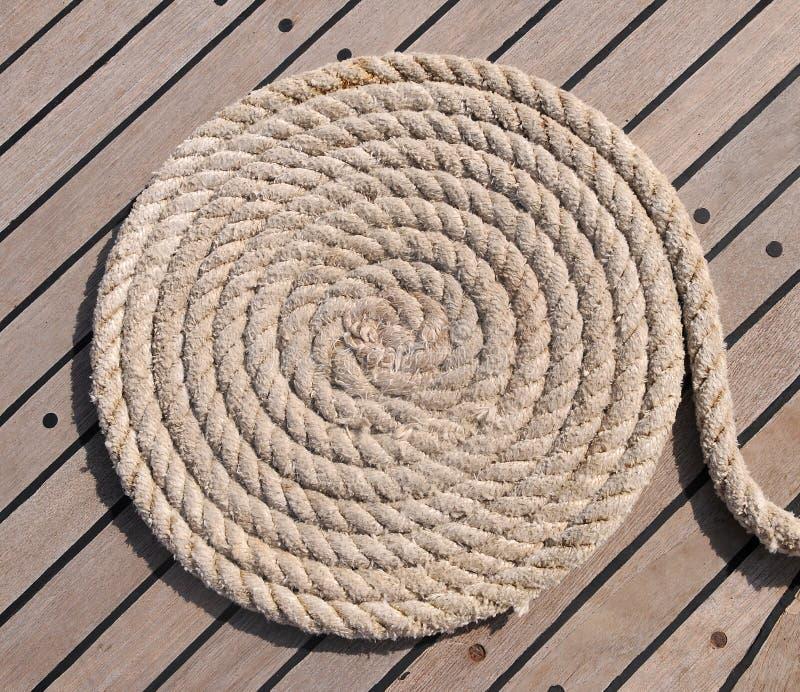 Cercle van kabel stock afbeelding