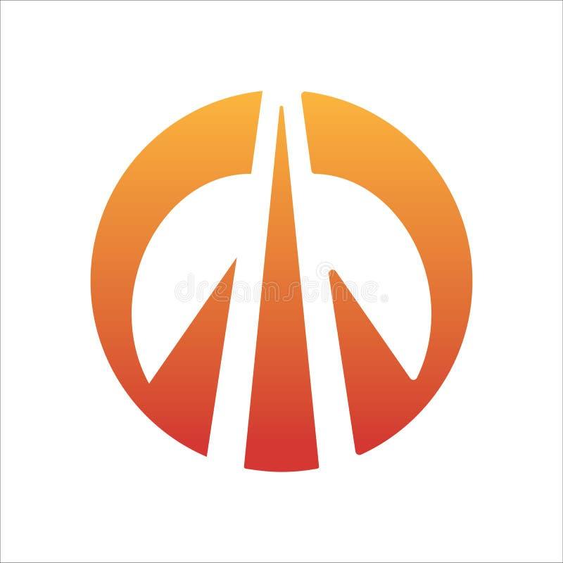 Cercle vers le haut de vecteur de logo de flèche illustration stock