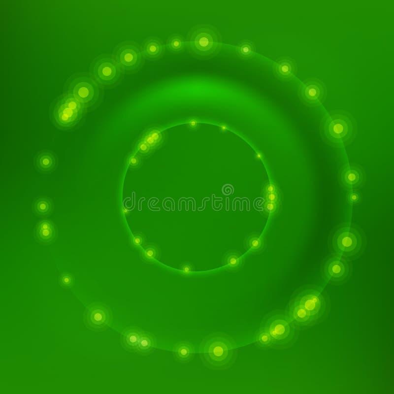 Cercle vert de vecteur illustration libre de droits