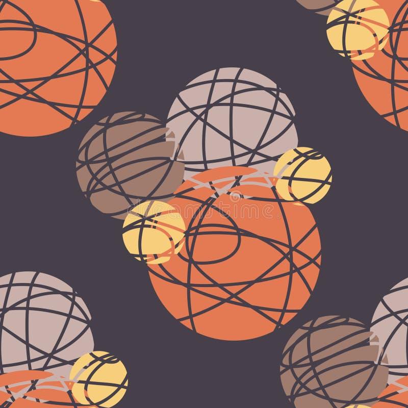 Cercles abstraits illustration stock